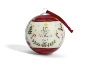 Mamas & Papas My 1st Christmas 2017 Bauble, Red