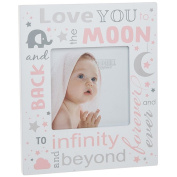 Love You to the Moon and Back Baby Picture Photo Frame ~ Baby Girl Pink Gift