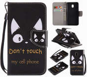 Samsung Galaxy J3 2017 Case, BONROY Premium Fashion colourful painting pattern PU Leather Wallet Flip Case Cover with [Lanyard Strap] [Credit Card Slots] [Magnetic Closure] and Stand Function Bumper Protective Cover For Samsung Galaxy J3 2017 J330 (EU- ..