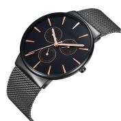 Simple Fashion Casual Watch Quartz Movement Ultra - Thin Waterproof Watch Pointer Display