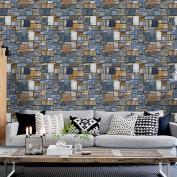 Wall Decor, Toamen 3D Wall Paper Brick Stone Rustic Effect Self-adhesive Wall Sticker Home Decor, 45 * 100cm