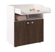 Polini Kids Simple Collection Drawer Unit, Number 1270, White/Walnut