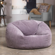 Luxury Jumbo Cord Bean Bag Snuggle Chair – PURPLE HEATHER – Giant Luxury Beanbag Lounger Seat in Plush Retro Corduroy Fabric – Extra Large Bean Bags