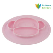RayMoon Kids Plates Silicone Toddler Suction Bowls Led Weaning Tableware Set Monley