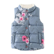 For 2-6 Years Old Infant ,Sunyoyo Toddler Baby Kids Cute Floral Jackets Baby Toddler Warm Waistcoat Clothes Coat