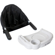 iSafe Baby Fast Fit Booster Seat YummyLUV - Black Table Highchair Complete With Tray