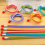 RICISUNG Soft Flexible Bendy Pencils Magic Bend Kids Children School Fun Equipment