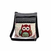 Fashion Embroidered Owl Tote Bags Women Shoulder Bag Handbags Postman Package by Kolylong