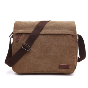 LOSMILE Men's Messenger Bag, Canvas Shoulder Bags, 34cm Laptop Bags for Work and School,Cross-Body Bags.