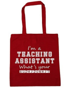 HippoWarehouse I'm A Teaching Assistant What's Your Superpower. Tote Shopping Gym Beach Bag 42cm x38cm, 10 litres