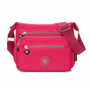 SUNRAY-BUY Multi Pocket Design Women's Waterproof Handbag Nylon Cross Body Shoulder Bag Tote Purse 20H*25W*10D
