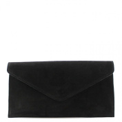 Genuine Italian Suede Leather Envelope Clutch Bags Party Wedding Purse Handbag Cross Body Bag CW01