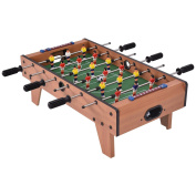 GYMAX 70cm Soccer Football Table Top Kids Family Foosball Game Toy Set Wooden Frame