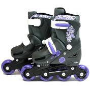SK8 Zone Girls Purple Roller Blades Inline Skates Adjustable Size Childrens Kids Pro Skating New