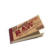 RAW PERFORATED WIDE TIPS - NATURAL HEMP & COTTON ROLLING TIPS - 5 BOOKLETS