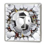 Football Breaking Wall Light Switch Sticker Vinyl / Skin cover sw54