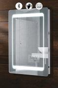 MY-Furniture Icon Illuminated LED Bluetooth Bathroom Mirror / IP44 / Demister / Sensor