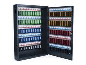 PAVO Deluxe Key Cabinet for 100 Keys, Dark Grey, 8 x 38 x 55 cm