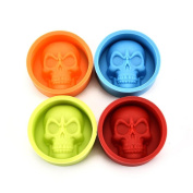 Saihui Pop Halloween 3D Skull Silicone Mould Chocolate Fondant Cake Making Baking Mould