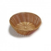 6x Handwoven Round Basket Natural 22cm x 7cm | Polypropylene Basket, Wicker Basket, Food Basket by Chabrias Ltd