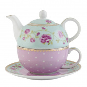 Clayre Eef GRTEFO & Tea for one Cup Teapot & flower