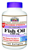 21st Century Health Care, Fish Oil, Omega-3, Maximum Strength, 1200 mg, 140 Softgels