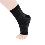 BoodTag Plantar Fasciitis Compression Socks with Arch Support Foot Care Compression Sleeve Ankle Brace Support Foot Heel Pain Relief Open Toe Anti Fatigue for Men and Women