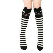 Fletion High Knee Socks Thigh Long Stockings with Animal Pattern