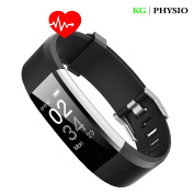 KG | PHYSIO Fitness Tracker Watch HR Smart Band feat. Heart Rate Monitoring, Activity Tracker, GPS Tracking, Sports Mode, Steps Counter, Sleep monitor and VeryFit Pro App For iPhone and android