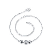 Beach Anklets Bracelet Adjustable Summer Foot Jewellery Silver Plated