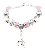 'I Love Gymnastics' Gymnast Sport Themed Childrens Charm Bracelet with Gift Box Girls Jewellery