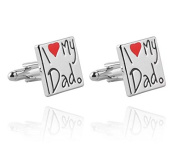 Liroyal Delicate Cufflinks English Word I Love My Dad for Father