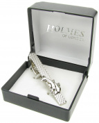 Holmes of London Novelty Pair of Dolphins Tie Clip Pin Clasp Mens Shirt Gift BNIB NEW UK