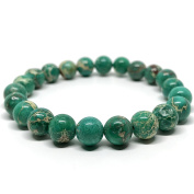 GOOD.designs Chakra Bead Bracelet made of natural Jasper stones - Jewellery for Men and Women