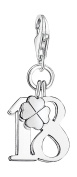 Thomas Sabo Women-Charm Pendant Lucky number 18 Charm Club 925 Sterling Silver 0473-001-12