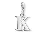 Thomas Sabo Women-Charm Pendant Letter K Charm Club 925 Sterling Silver 0185-001-12