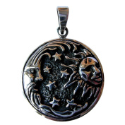 Sterling Silver 925 Sun And Moon Pendant