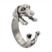 Women Koala Bear Ring Quality Lovers Rings Ancient Silver Adjustable Stretch Band Free Gift Box