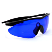 Posma SGG-010 Golf Ball Finder Hunter Retriever Glasses - Special Tinted Lenses Filter Out Grass and Foliage So White Golf Balls Appear to Glow For Easy Visual Pickup