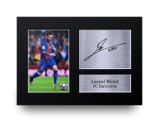 Lionel Messi Signed A4 Printed Autograph Barcelona Photo Presentation Display - Great Gift Idea