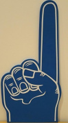 Palm printed giant EVA foam hand glove pointy finger