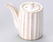 Kobiki Shinogi 5.3cm Soy Sauce Dispenser Beige porcelain Made in Japan