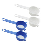 COM-FOUR ®/Icing Sugar Sieve, Fine Mesh Sieve Made From Plastic for Tea Strainer and Icing Sugar 04 Stück