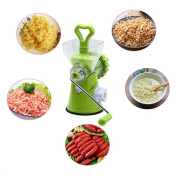 MAXGOODS Plastic and Stainless Steel Manual Meat Mincer Hand Small Sausage Machine Cutter for Home Kitchen Cooker