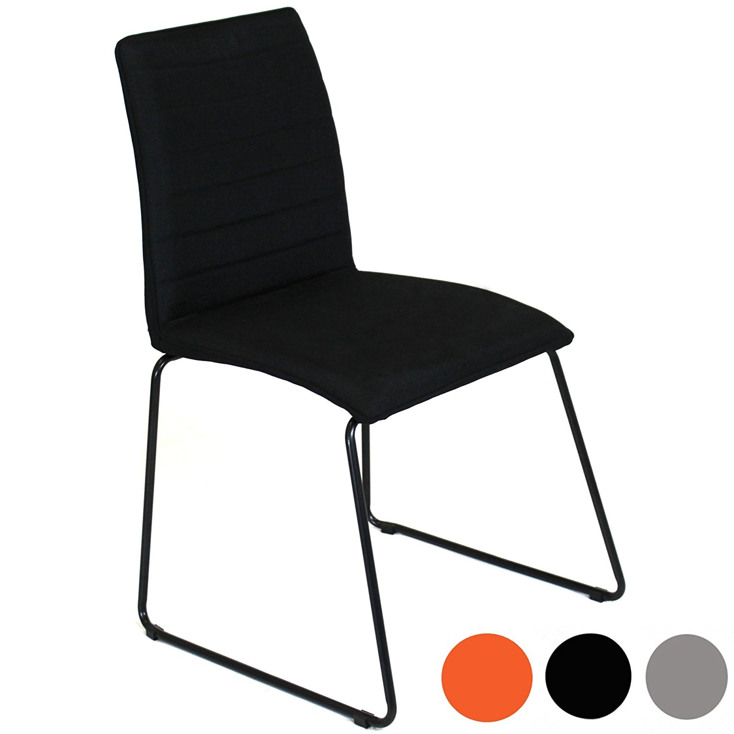 Charles Jacobs Modern Fabric DINING Table Chairs X2 With Padded Seat
