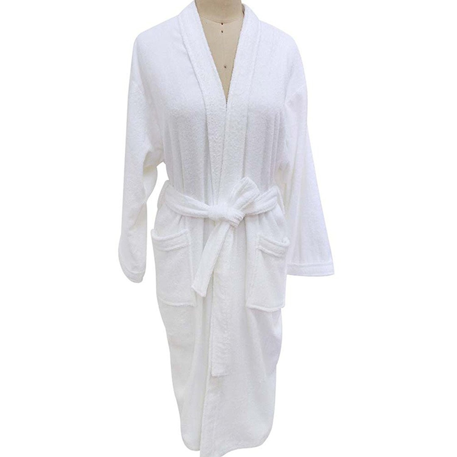 Unisex Towelling Robe 100% Cotton Terry Towel Bathrobe Dressing Gown Bath  Robe Perfect for Gym Shower Spa Hotel Robe Holiday Present or Christmas  Gift by ... 9de0fca37