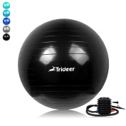 Exercise Ball (Multiple Sizes / Colours) with Quick Pump, Trideer Extra Thick Anti-Burst & Anti-Slip Swiss Ball, Ball Chair, Birthing Ball