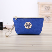 Multi Functional Portable Travel Cosmetic Bag Women Casual Makeup Pouch Toiletry Organizer Case Blue