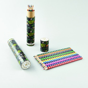 Dinosaur Tube of 12 Coloured Pencils