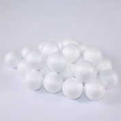 White Polystyrene 3D Balls 60mm Pack of 20 by BCreative ®